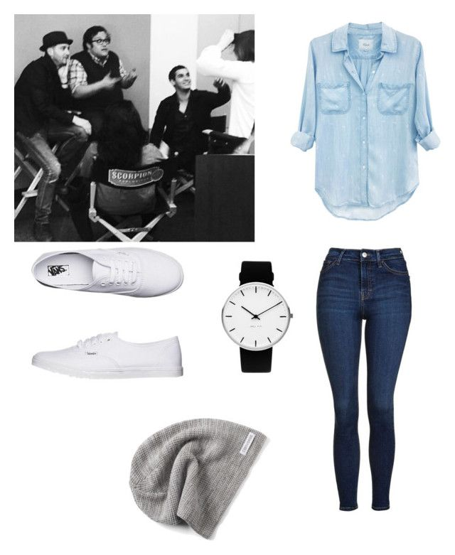 """""""Tournage de Scorpion 🦂"""" by anneso88 ❤ liked on Polyvore featuring Rails, Topshop, Vans, Converse and Rosendahl"""