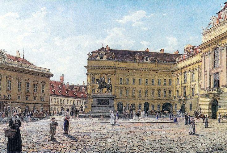 Josefsplatz in Vienna by Rudolf von Alt, 1831