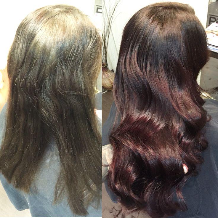 Dark Ruby hair with waves