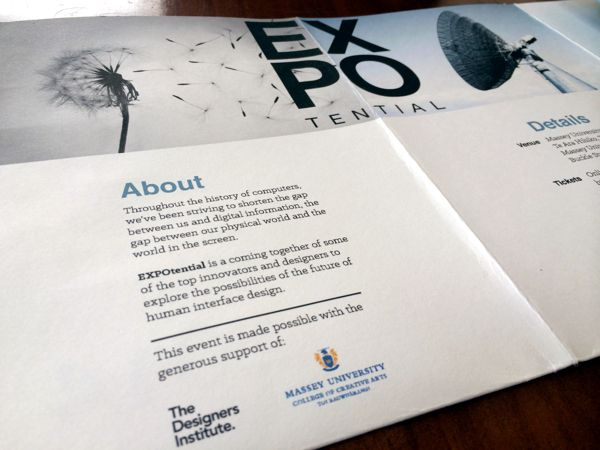EXPOtential - Design Conference by Lachlan Philipson, via Behance