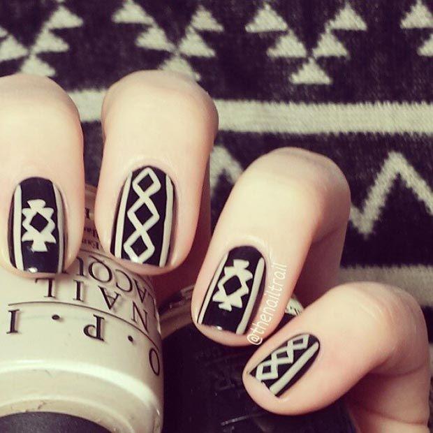 Sweater Inspiration Nail Design #nailart #nail #nails #naildesign