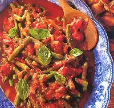 Boontjes met vegetarisch gehakt en tomaten