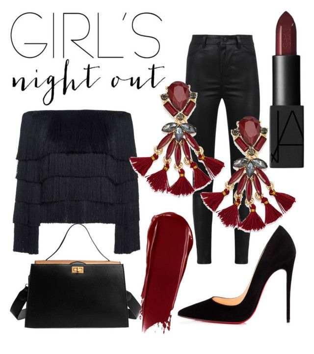 """""""Girls Night Out"""" by emmamashilo on Polyvore featuring A.L.C., Manokhi, INC International Concepts and Christian Louboutin"""