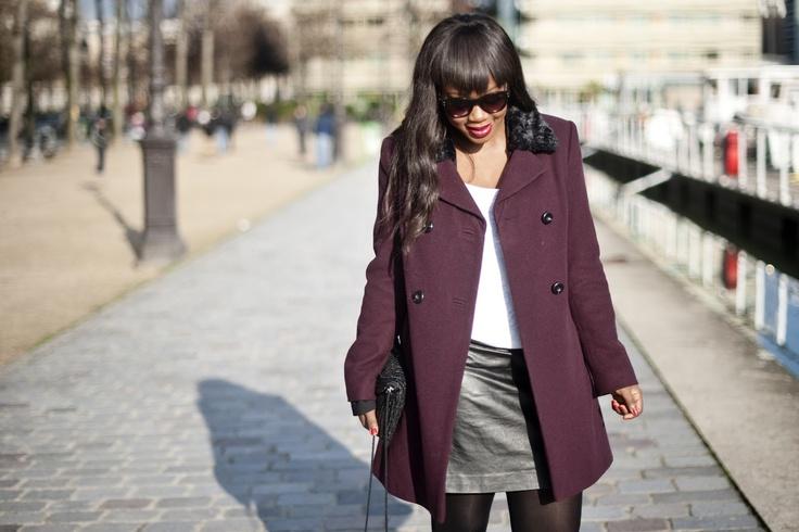 Merci au blog The fashion everyday | Manteau NAF NAF