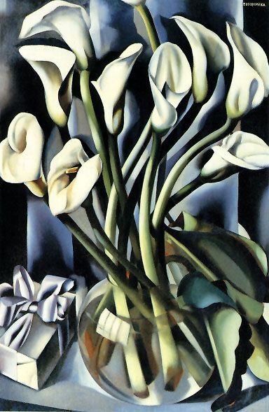 Tamara de Lempicka  (born Poland, 1898-1980), Calla Lilies, 1941 #art #fashion #lempicka