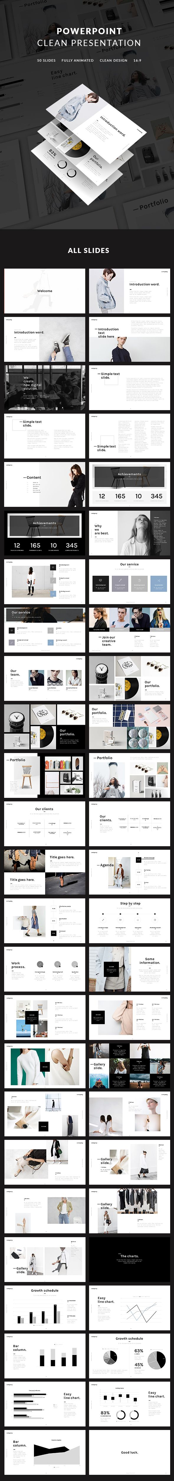 Clean PowerPoint Presentation Template. Download here: https://graphicriver.net/item/clean-presentation/17647819?ref=ksioks