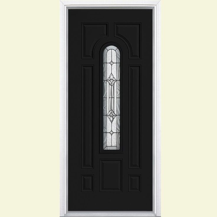 Masonite 36 in. x 80 in. Providence Center Arch Painted Steel Prehung Front Door with Brickmold-22235 - The Home Depot