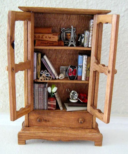 Enchanted bookcase, cute!