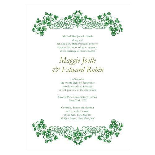 Luck Of The Irish Invitation (Pack of 1)