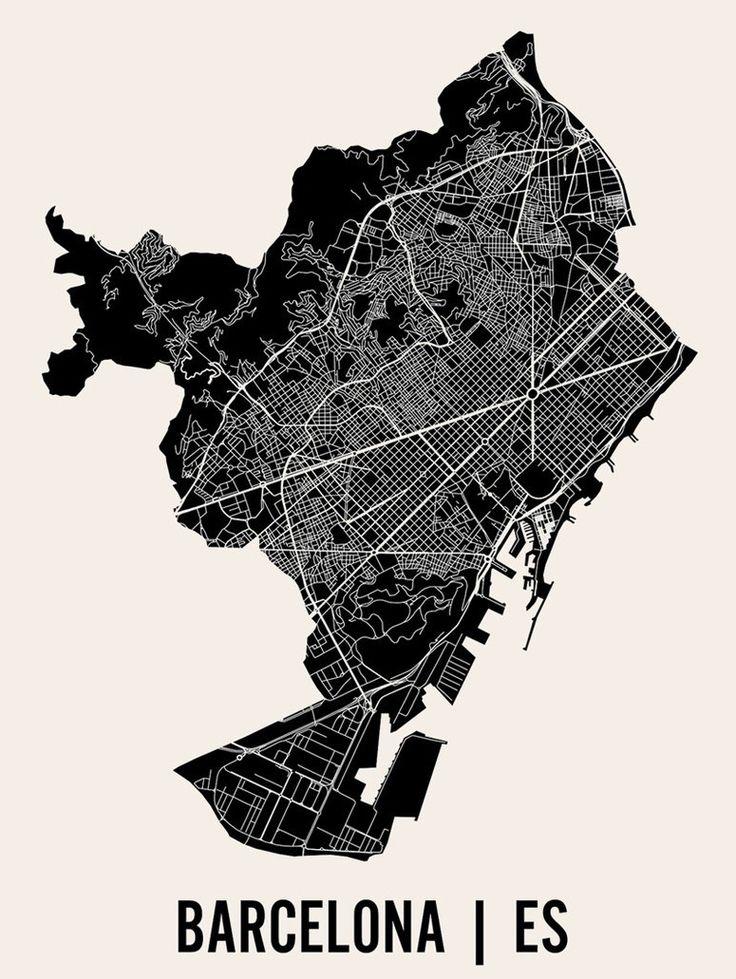 Barcelona map - wall art idea
