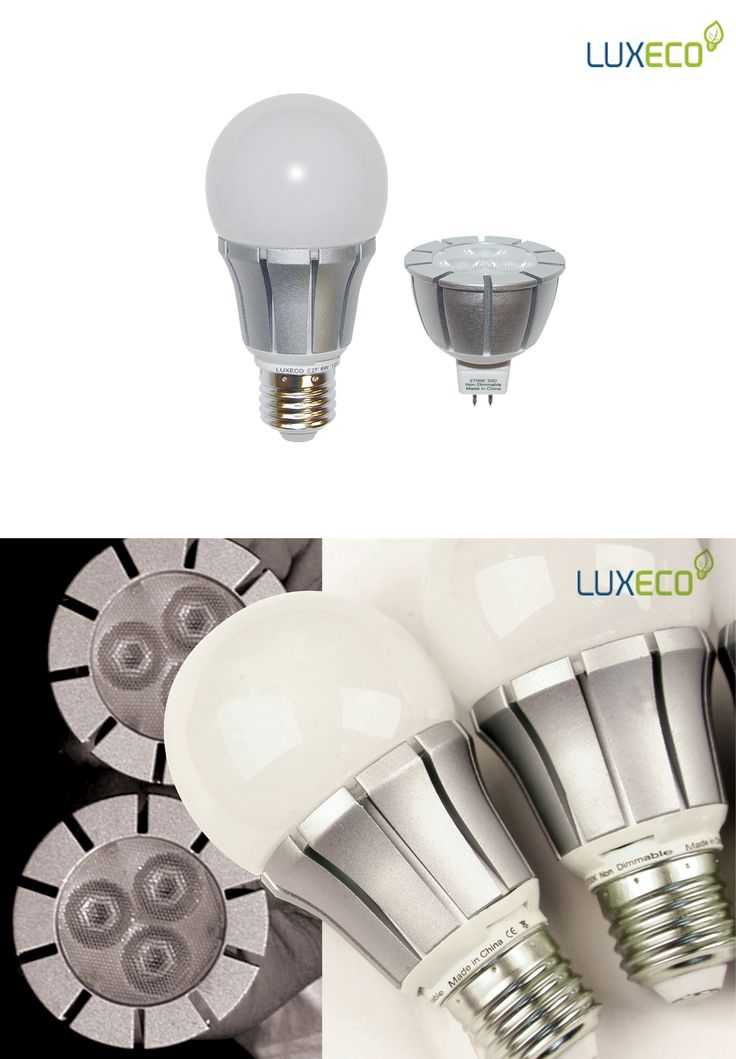 Luxeco - LED Series. MR16 and E27 LED light sources. Designed in 2012 for Techmar B.V.