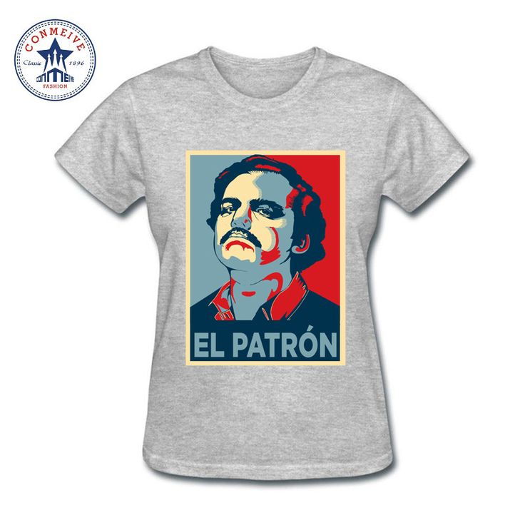 >> Click to Buy << 2017 Fashion New Gift Tee Pablo Escobar El Patron funny Cotton T Shirt for women #Affiliate