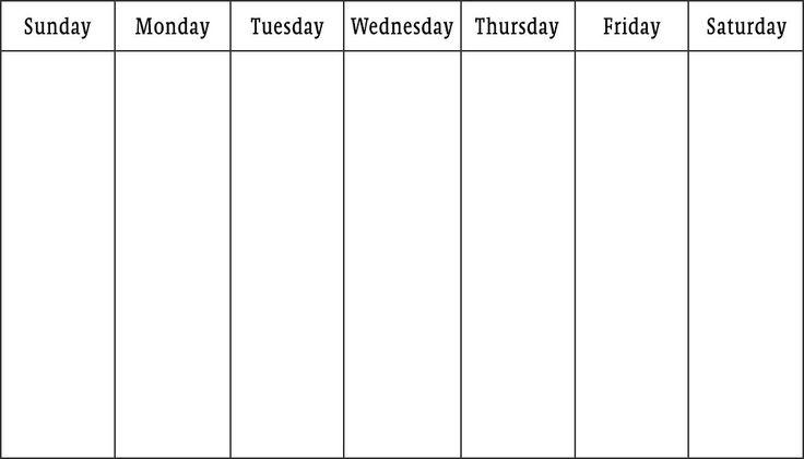 72 best calendar design images on Pinterest Calendar design - one week calendar template word