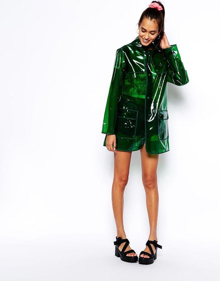 Gorgeous bottle green rain mac dolly jacket coat Asos UK 8 new in Vêtements, accessoires, Femmes: vêtements, Manteaux, vestes | eBay