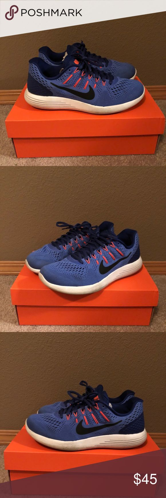 Nike Lunarglide 8 Nike Lunarglide 8! Great condition. Perfect if you need extra support for running or walking. Provides arch support and dynamic support. Will ship same or next day! Reasonable offers gladly accepted! #nike #lunarglide #runningshoe #walkingshoe #lunarglide8 #nikeshoes #nikelunarglide #blueshoe #archsupport Nike Shoes