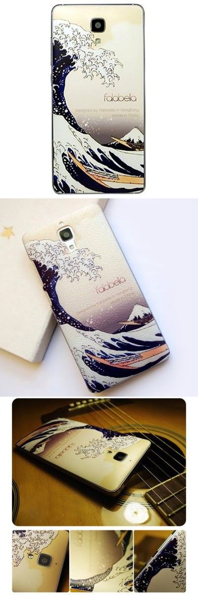 Fresh Falabela Waves Pattern 3D Coloured Sculpture Protective Case for Xiaomi 4 -$9.79