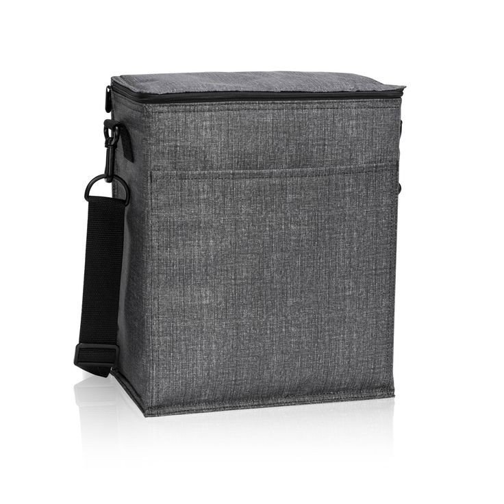"""Now featuring Leak Lock lining, this thermal can hold up to two 2-liter bottles! It's great for campouts, study group, picnic or soccer games. The Picnic Thermal Tote is insulated to keep cool things cools and warm things warm. Size: Approx. 8.75""""H x 9.75"""" L x 6"""" D"""