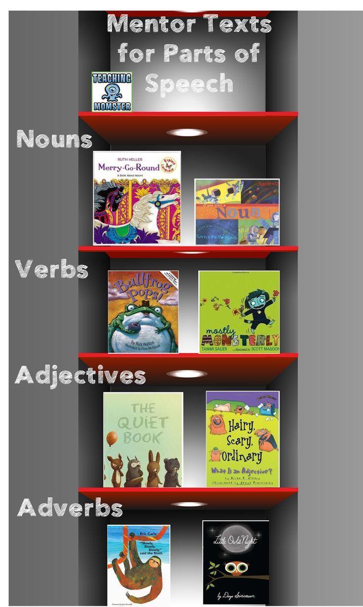 Mentor Monday: Parts of Speech, Teaching Momster blog post