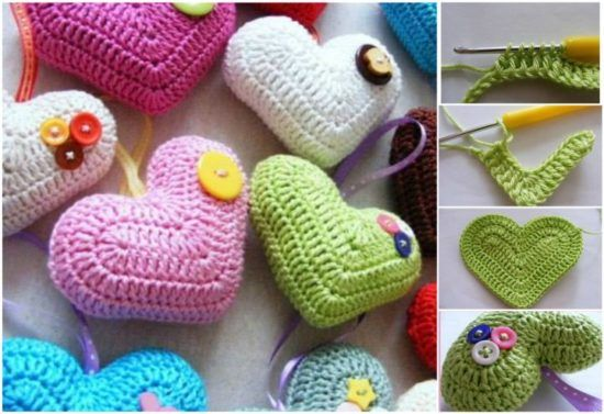 Crochet 3D Heart Pattern Lots of Cute Ideas | The WHOot