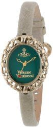 Vivienne Westwood Women's VV005GRGY Rococo Swiss Quartz White Leather Strap Watch