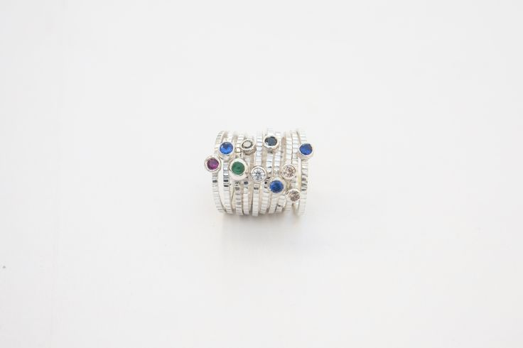 Lia Gonçalves | Joalharia de Autor _ rings _ Land collection _ silver
