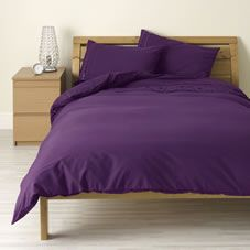 Wilko Ribbon Duvet Set Purple Kingsize