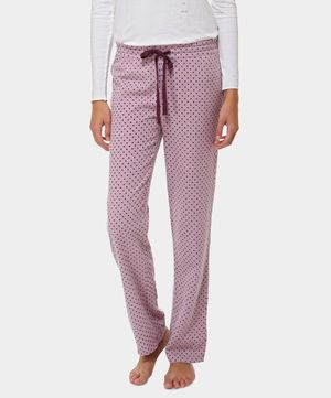 Pantalón largo estrellitas violetas - Oysho