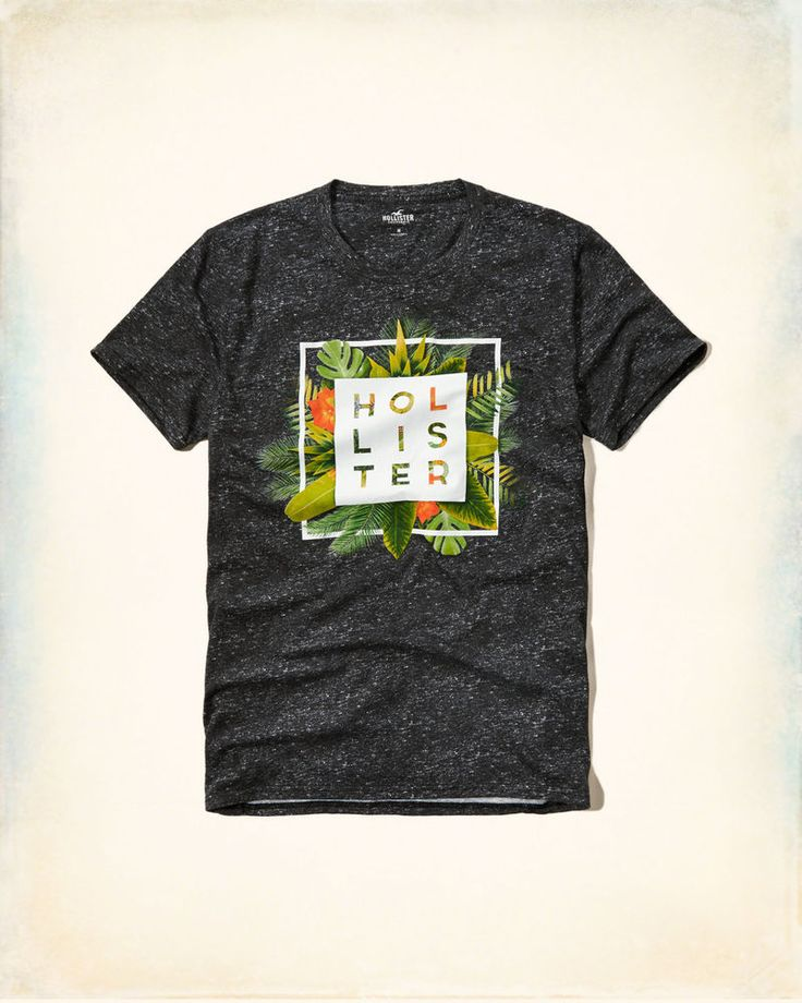 Nwt Hollister By Abercrombie Mens T Shirt Tee Gray Size S M L XL 2016 #Hollister #GraphicTee