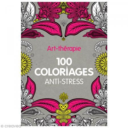 Livre coloriage adulte anti-stress - A4 - 100 coloriages - Photo n°1