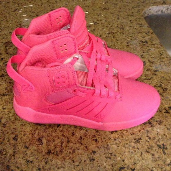 Supra shoes Bright pink supra high tops-never been worn! Supras Shoes