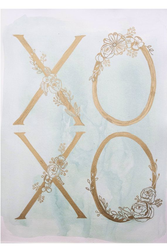 XOXO by ArtandAlexander on Etsy