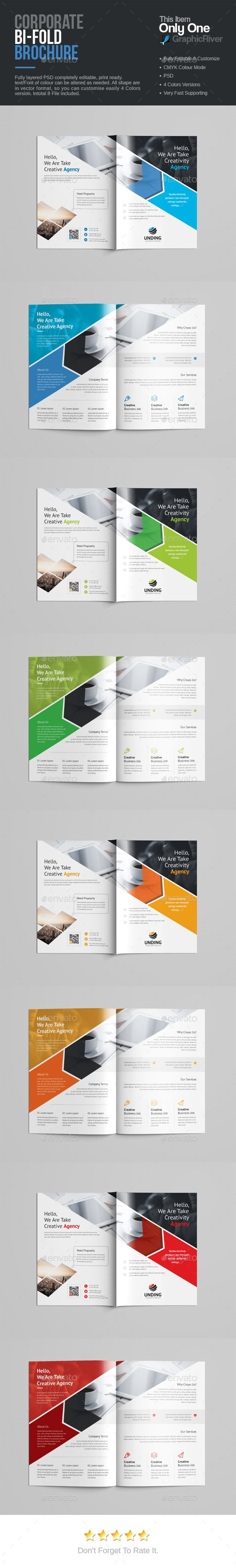Bi-Fold Brochure - Download: https://graphicriver.net/item/bifold-brochure/18953332?ref=sinzo #Corporate #Brochures