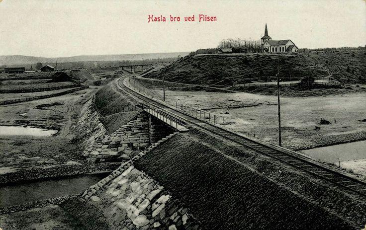 Hasla bro ved Flisa Åsnes kommune Solør i Hedmark fylke utg Narvesen