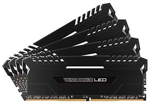 Corsair Vengeance LED 32GB (4x8GB) DDR4 3200 (PC4-25600) C16 for DDR4 Systems  White LED PC Memory (CMU32GX4M4C3200C16)