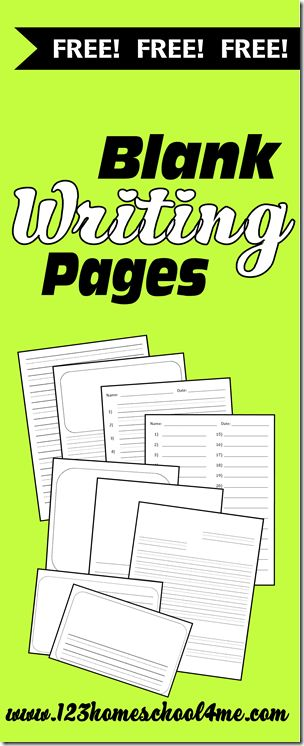 123 Homeschool 4 Meput all FREE 37 Blankworksheets for kidstogether to share with you. There are three types of lines for each style to acco