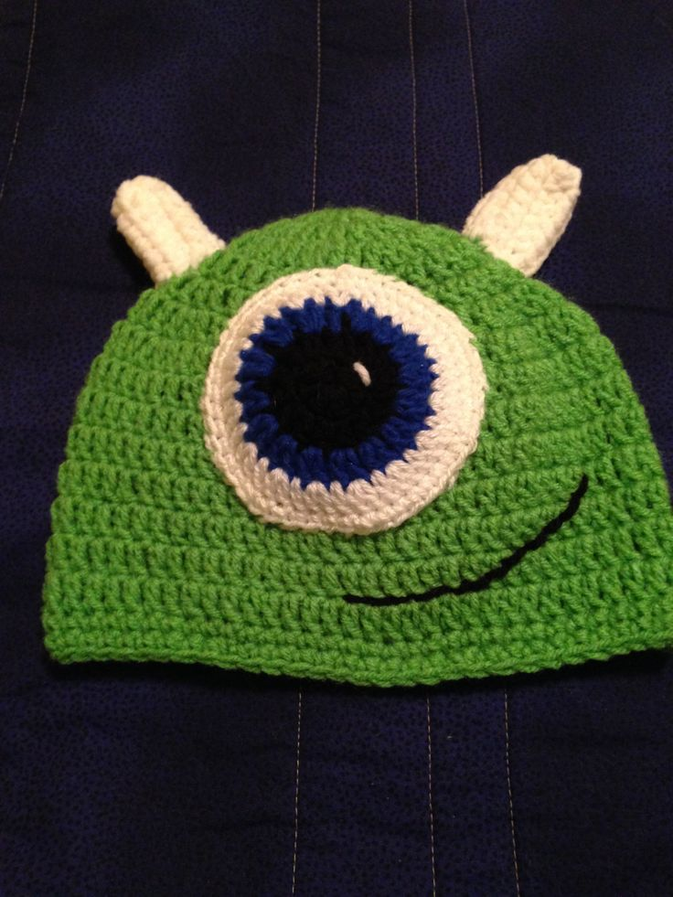 Crochet Monster Hat Monster Inc Inspired Hats by TheSandDollarCo