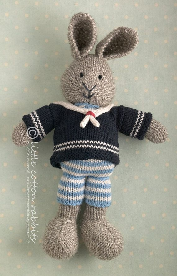 25+ best ideas about Little Cotton Rabbits on Pinterest Knitted bunnies, Kn...