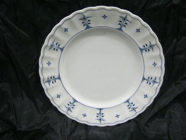 Winterling Bavaria Oscar Schaller Dinner Plate Strawflower Blue Florals Scrolls