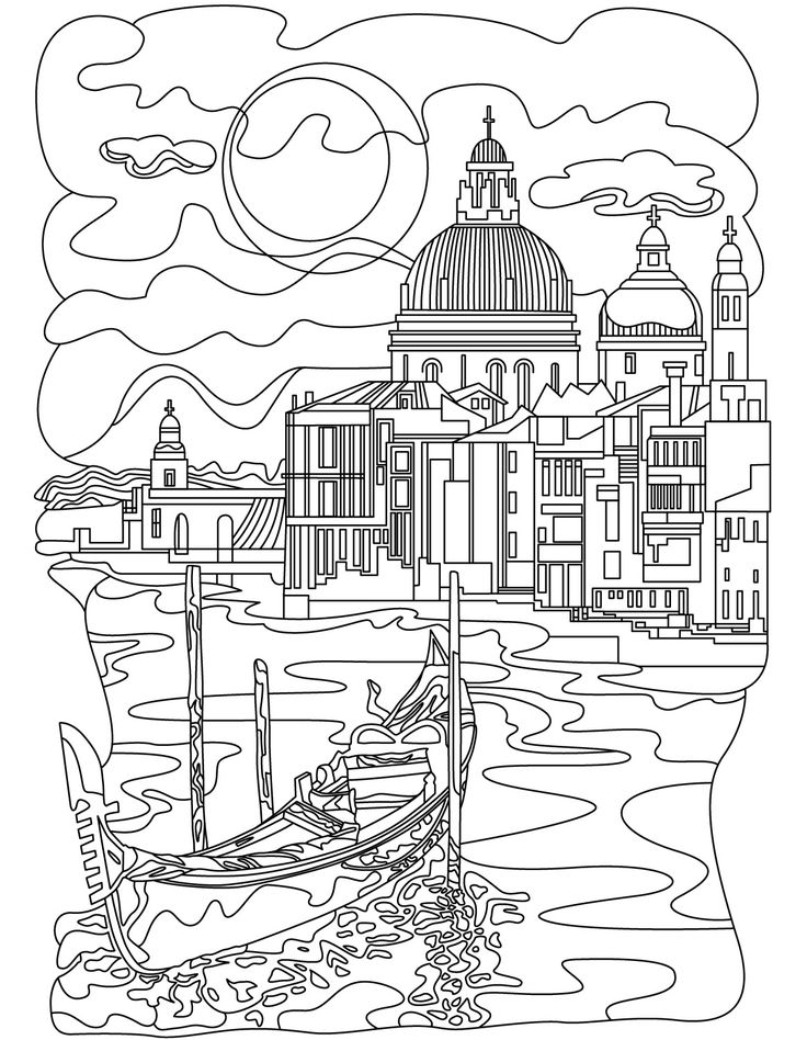 architecture coloring book pages | 265 best images about Architecture Coloring Pages for ...