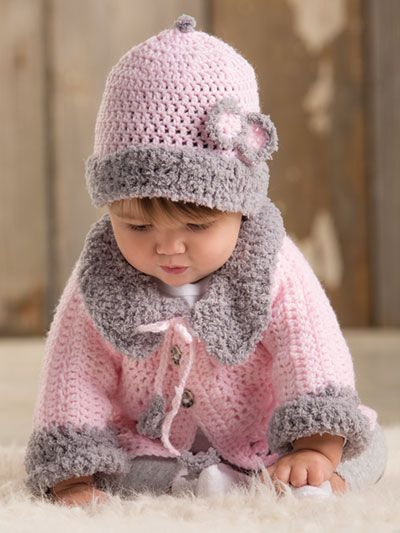 Crochet - ANNIE'S SIGNATURE DESIGNS: Modern Baby Sweater Crochet Set - #Y886242