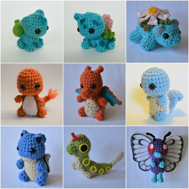 I'm on a mission to crochet all 151 original Pokemon :D http://ift.tt/2Gh4wo3