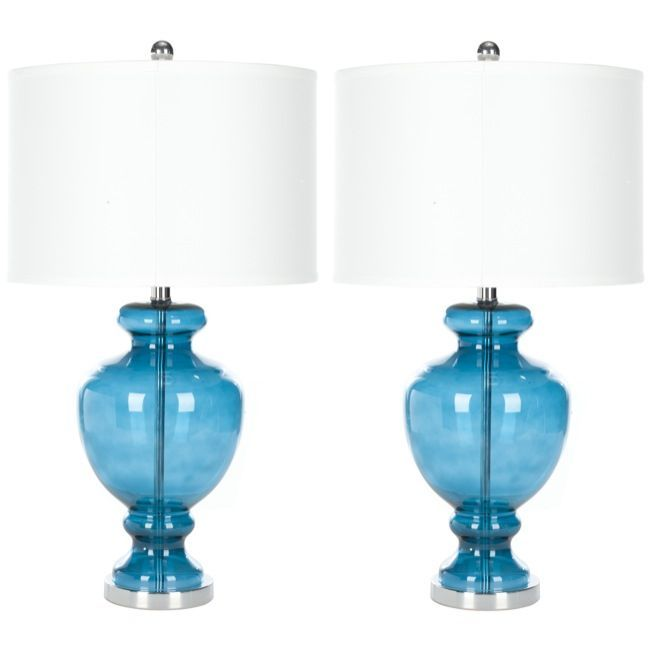 living room with these gorgeous turquoise glass table lamps each lamp. Black Bedroom Furniture Sets. Home Design Ideas