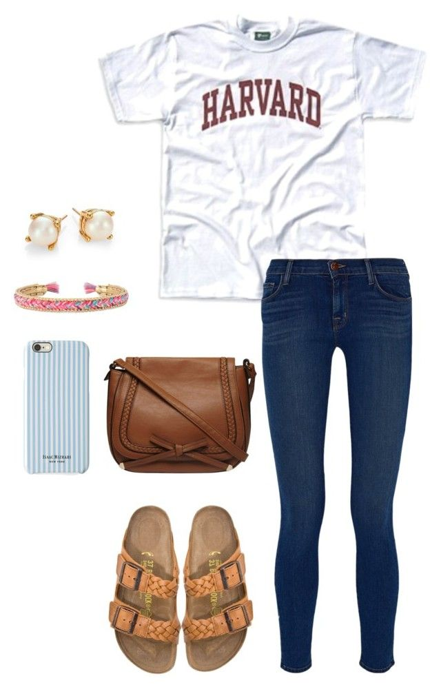 """""""{be brave my darling}~"""" by thedancersophie ❤ liked on Polyvore featuring J Brand, Birkenstock, Stella & Dot, Kate Spade, Dorothy Perkins and Isaac Mizrahi"""