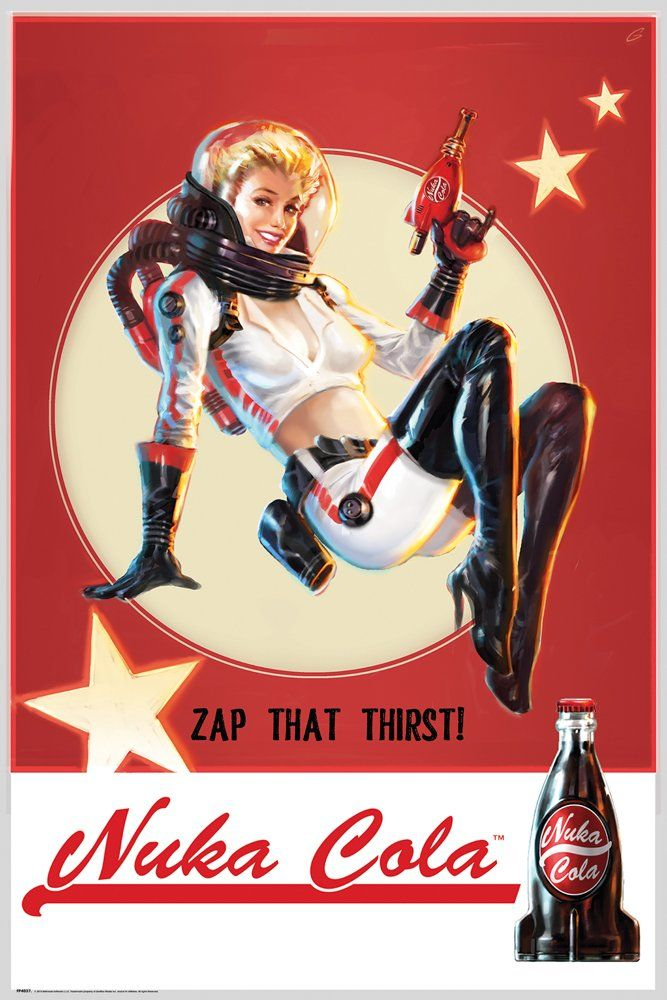 Fallout 4 Nuka Cola Maxi Poster 61 x 91.5cm: Amazon.co.uk: Kitchen & Home