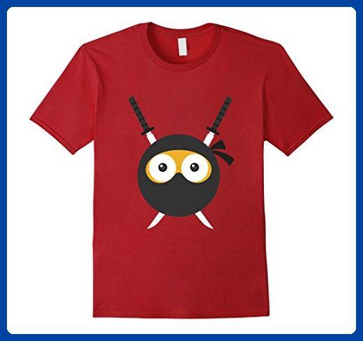 Mens Ninja Emoji Martial Arts, Karate, Judo T-Shirt Fighter Gift 2XL Cranberry - Sports shirts (*Amazon Partner-Link)