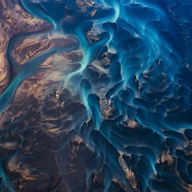 Iceland's epic vistas, vast glaciers, soft light, and ominous volcanoes make beautiful abstract art in Emmanuel Coupe-Kalomiris's aerial photos. He's made striking visuals out of the island's natural formations without focusing on their actual geography. More at WIRED.com. ( Emmanuel Coupe-Kalomiris)