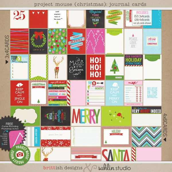 Project Mouse (Christmas): Journal Cards
