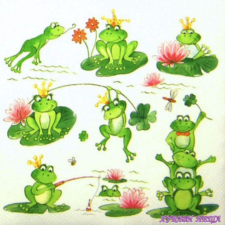 """Салфетка с принт """"Funny Frogs"""" 33/33см."""