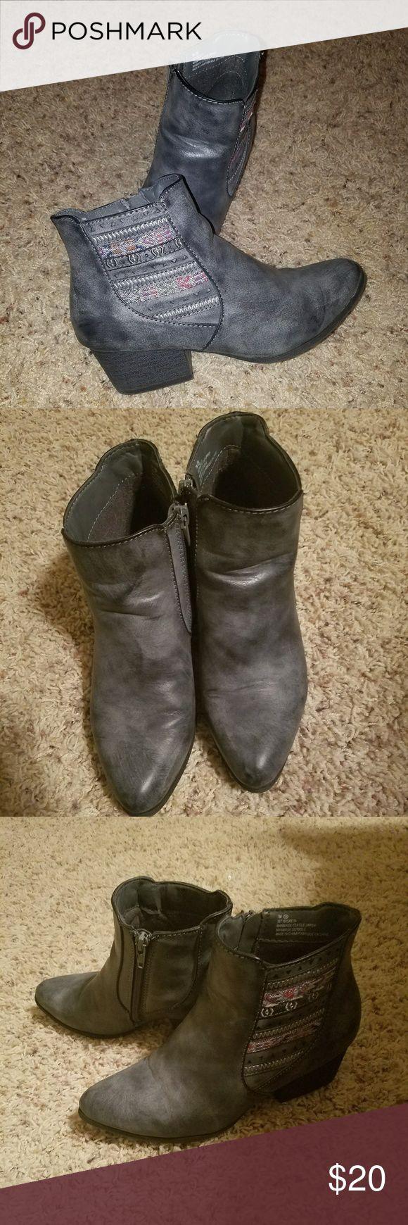 Maurices Greta Gray bootie sz 7 Maurices Greta Gray bootie sz 7 Maurices Shoes Ankle Boots & Booties