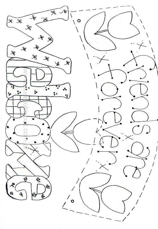 Friends are Forever/ Welcome Template/pattern to use for making (embroidery) cards or Journal/ Familybook. :-D